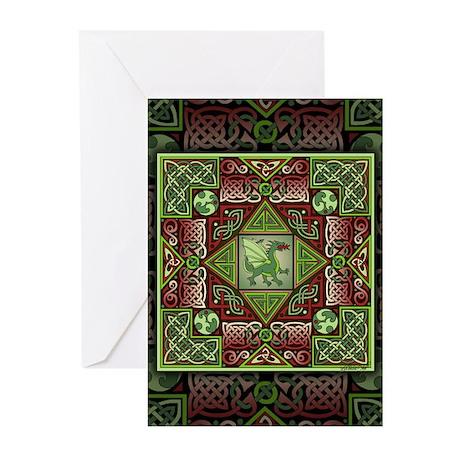 Celtic Dragon Labyrinth Greeting Cards (Pk of 20)