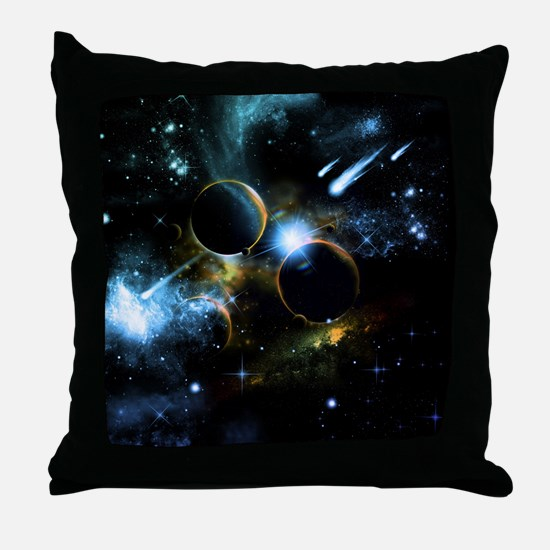 The universe of planets Throw Pillow
