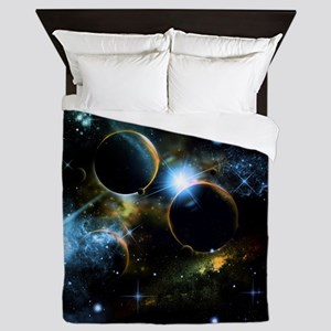 The universe of planets Queen Duvet