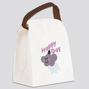 Happy Cloud Day Canvas Lunch Bag
