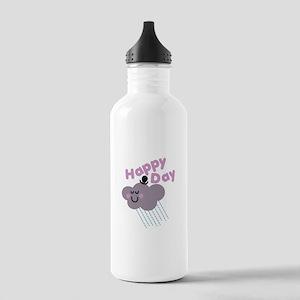 Happy Cloud Day Water Bottle