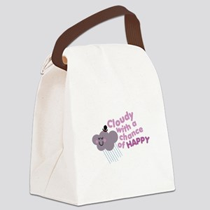 Chance of Happy Canvas Lunch Bag