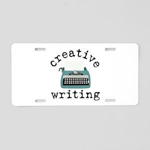 Creative Writing Aluminum License Plate