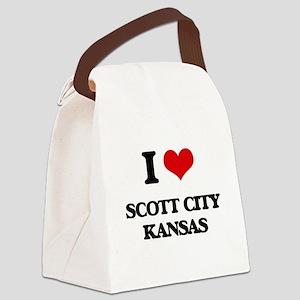 I love Scott City Kansas Canvas Lunch Bag