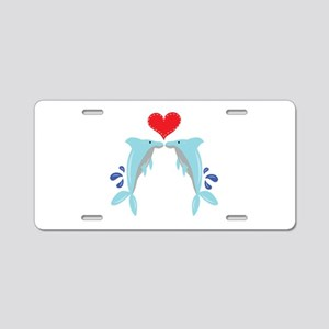 Dolphin Love Aluminum License Plate