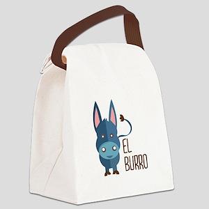El Burro Canvas Lunch Bag