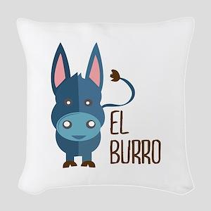 El Burro Woven Throw Pillow