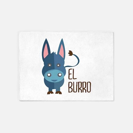 El Burro 5'x7'Area Rug