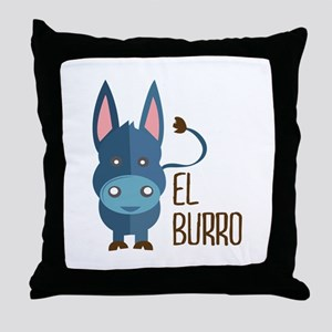 El Burro Throw Pillow