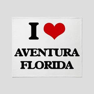 I love Aventura Florida Throw Blanket