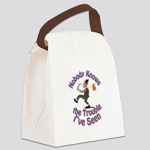 Nobody Knows Canvas Lunch Bag