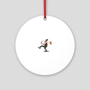 Hobo Whistler Ornament (Round)