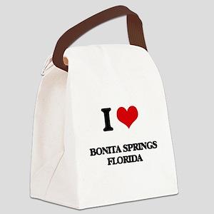 I love Bonita Springs Florida Canvas Lunch Bag