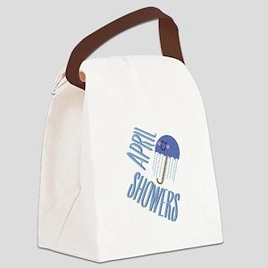 Umbrella April Showers Canvas Lunch Bag