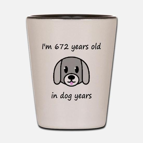 96 dog years 2 Shot Glass