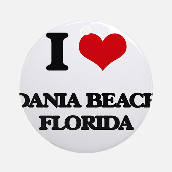 I love Dania Beach Florida Ornament (Round)