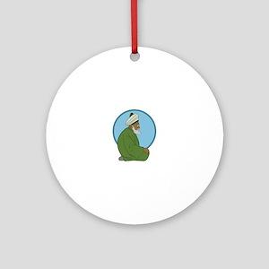 Sufi Man Ornament (Round)