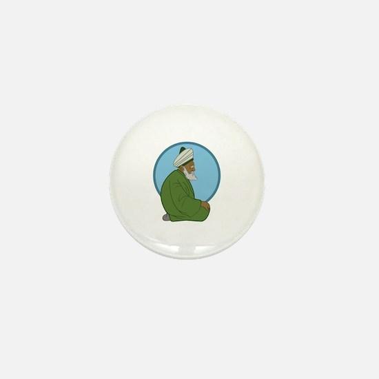 Sufi Man Mini Button