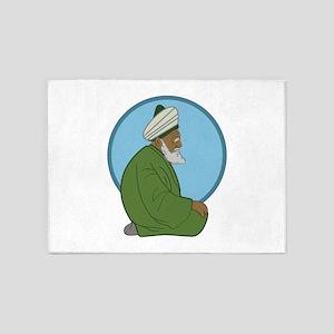 Sufi Man 5'x7'Area Rug