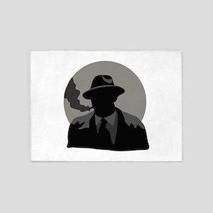 Movie Detective 5'x7'Area Rug