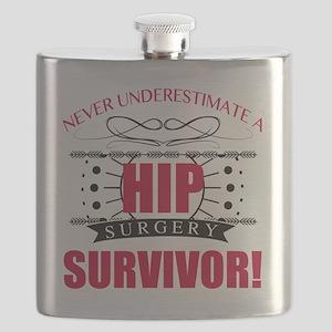 Hip Surgery Survivor Flask