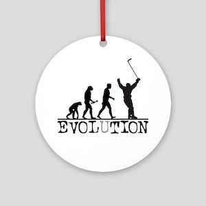 Evolution Hockey Ornament (Round)
