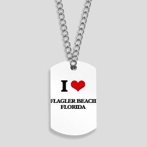 I love Flagler Beach Florida Dog Tags