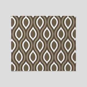 Ogee Tan Pattern Throw Blanket