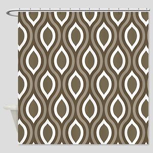 Ogee Tan Pattern Shower Curtain