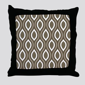 Ogee Tan Pattern Throw Pillow