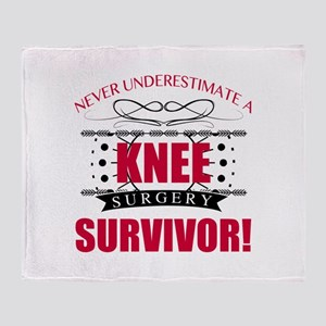 Knee Surgery Survivor Throw Blanket