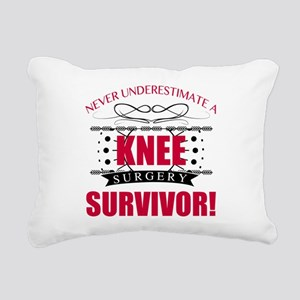 Knee Surgery Survivor Rectangular Canvas Pillow