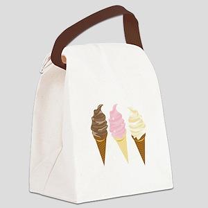 Three Cones Canvas Lunch Bag