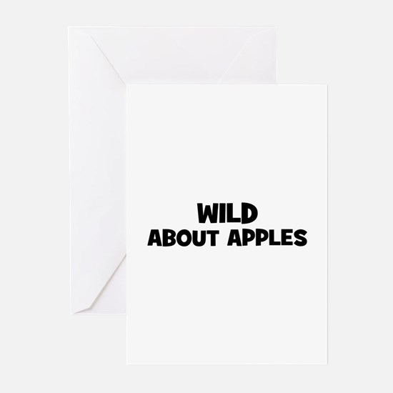 wild about apples Greeting Cards (Pk of 10)