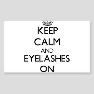 Keep Calm and EYELASHES ON Sticker