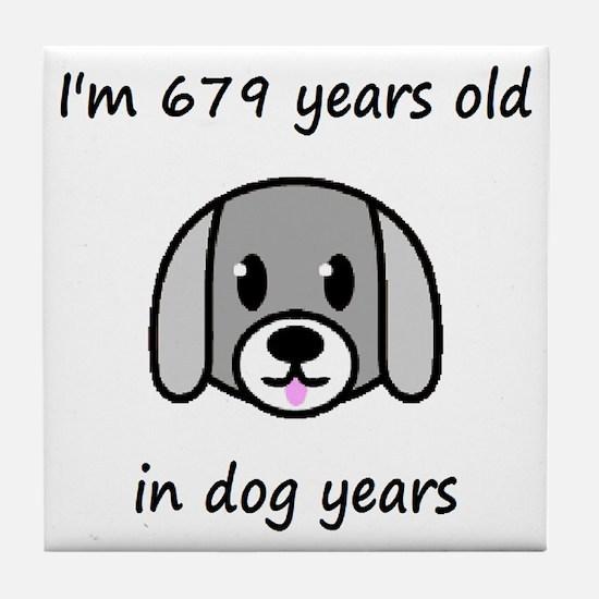 97 dog years 2 - 2 Tile Coaster