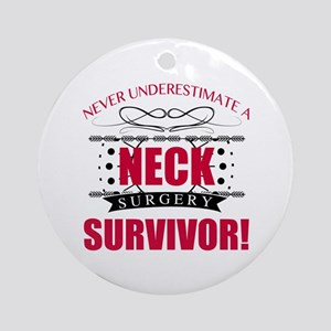 Neck Surgery Survivor Round Ornament