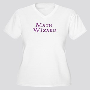 Math Wizard Women's Plus Size V-Neck T-Shirt