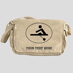 Rower Oval (Custom) Messenger Bag