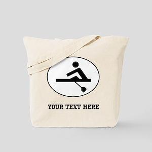 Rower Oval (Custom) Tote Bag