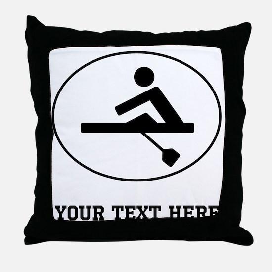 Rower Oval (Custom) Throw Pillow