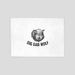 Big Bad Wolf 5'x7'Area Rug