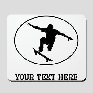 Skateboarder Oval (Custom) Mousepad