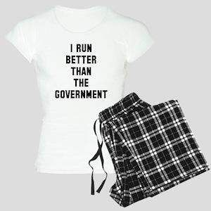 I run better faster governm Women's Light Pajamas