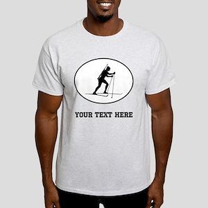 Biathlete Silhouette Oval (Custom) T-Shirt
