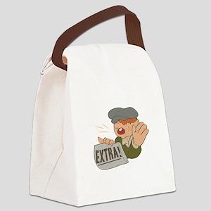 Paper Boy Canvas Lunch Bag