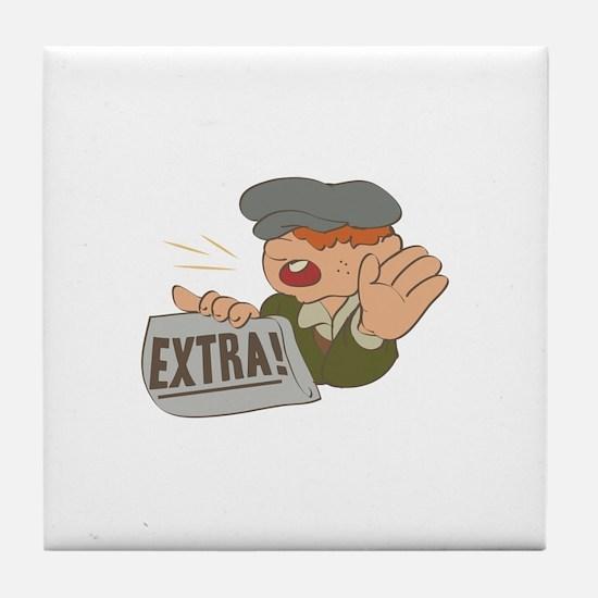 Paper Boy Tile Coaster