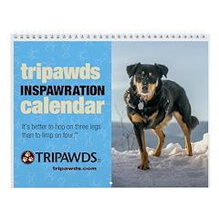 Tripawds Wall Calendar #24 - New For 2018