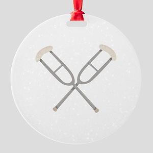 Crossed Crutches Ornament