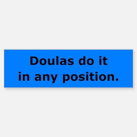 Doulas Do it Bumper Car Car Sticker